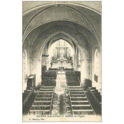 carte postale ancienne 41 SALBRIS. Intérieur Eglise 1918