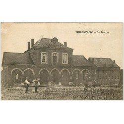 carte postale ancienne 02 BUIRONFOSSE. La Mairie. Jardiniers