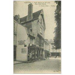 carte postale ancienne 41 VENDOME. Tabac Journaux Place Saint-Martin