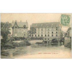 carte postale ancienne 51 ANGLURE. Le Moulin 1907