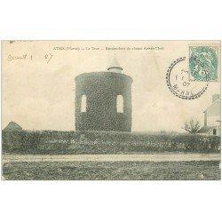 carte postale ancienne 51 ATHIS. La Tour Rendez-vous de Chasse Auban-Moët 1907