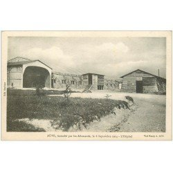 carte postale ancienne 51 AUVE. L'Hôpital incendié 1918