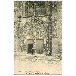 carte postale ancienne 51 AVENAY. Portail de l'Eglise