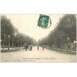 carte postale ancienne 51 CHALONS-SUR-MARNE. Allées de Forets 1908
