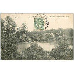 carte postale ancienne 51 CHALONS-SUR-MARNE. Bords de Marne 1907