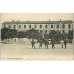 carte postale ancienne 51 CHALONS-SUR-MARNE. Caserne Chanzy Casernement 1° Bataillon