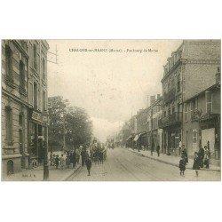carte postale ancienne 51 CHALONS-SUR-MARNE. Faubourg de Marne 1924 Grands Economiques Français buvette