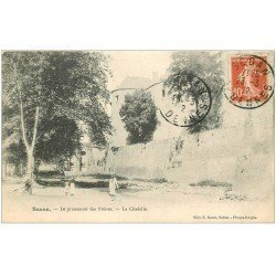 carte postale ancienne 08 SEDAN. Promenoir des Prêtres 1912. Citadelle