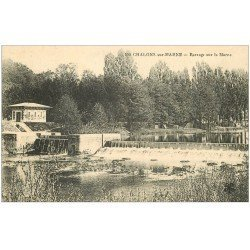 carte postale ancienne 51 CHALONS-SUR-MARNE. Le Barrage