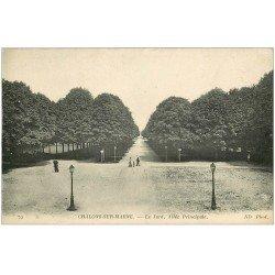 carte postale ancienne 51 CHALONS-SUR-MARNE. Le Jard Allée 1915