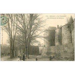 carte postale ancienne 08 SEDAN. Promenoir des Prêtres et Château 1906