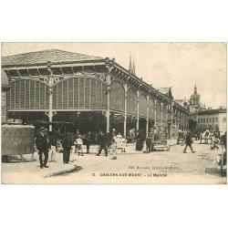 carte postale ancienne 51 CHALONS-SUR-MARNE. Le Marché 1914