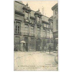 carte postale ancienne 51 CHALONS-SUR-MARNE. Musée et Bibliothèque rue Orteuil