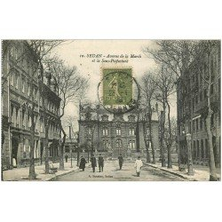 carte postale ancienne 08 SEDAN. Sous-Préfecture Avenue de la Marck 1920