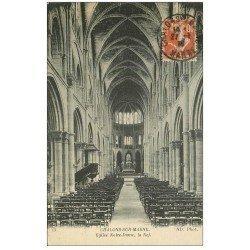 carte postale ancienne 51 CHALONS-SUR-MARNE. Nef Eglise Notre-Dame 1914