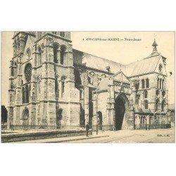 carte postale ancienne 51 CHALONS-SUR-MARNE. Notre-Dame tampon Hôpital 1915