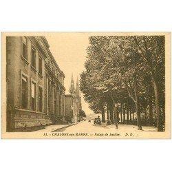 carte postale ancienne 51 CHALONS-SUR-MARNE. Palais de Justice