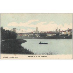 carte postale ancienne 51 DORMANS. Le Pont suspendu