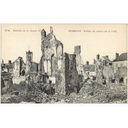 carte postale ancienne 51 DORMANS. Ruines centre Ville