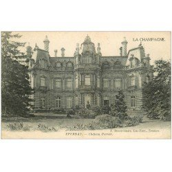 carte postale ancienne 51 EPERNAY. Château Perrier 1918