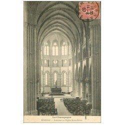 carte postale ancienne 51 EPERNAY. Eglise Notre-Dame 1907 intérieur