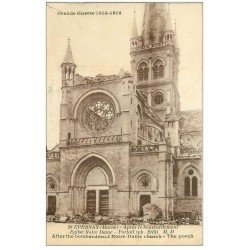 carte postale ancienne 51 EPERNAY. Eglise Notre-Dame Portail