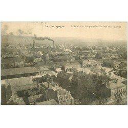 carte postale ancienne 51 EPERNAY. Gare et Ateliers 1913