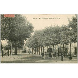 carte postale ancienne 51 EPERNAY. Le Rempart Perrier 1907