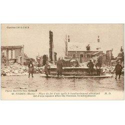 carte postale ancienne 51 FISMES. Place du Jet d'Eau