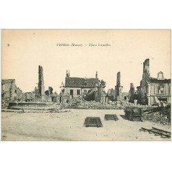 carte postale ancienne 51 FISMES. Place Lamotte