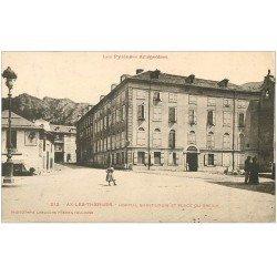 carte postale ancienne 09 AX-LES-THERMES. Hôpital Saint-Louis Place du Breilh