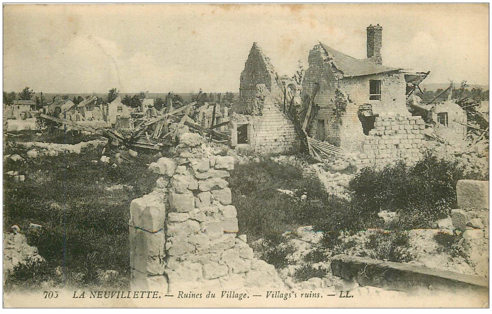 51 la neuvillette ruines du village for Ville du 51