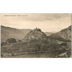 carte postale ancienne 09 AX-LES-THERMES. Lordat. Les ruines