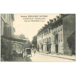 carte postale ancienne 09 AX-LES-THERMES. Maison Benjamin Rivière. Léopold Ferrand
