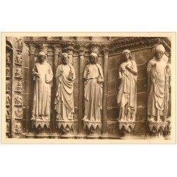 carte postale ancienne 51 REIMS Cahédrale. Ebrasement Porche sud