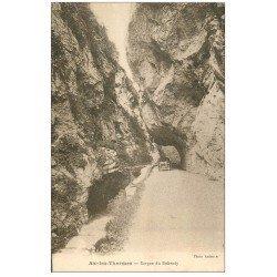carte postale ancienne 09 AX-LES-THERMES. Voiture Gorges du Rebenty