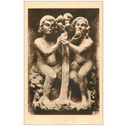 carte postale ancienne 51 REIMS Cahédrale. Voussure de la Rose