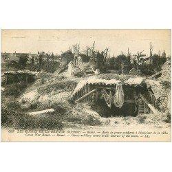 carte postale ancienne 51 REIMS. Abris Grosse Artillerie