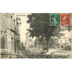 carte postale ancienne 51 REIMS. Avenue de Laon écroulement Restaurant Espagne 1919
