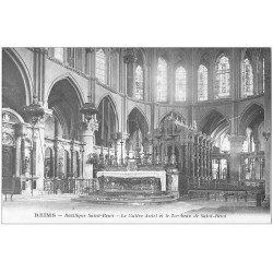 carte postale ancienne 51 REIMS. Basilique Saint-Remi Maitre-Autel et Tombeau