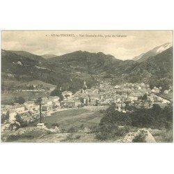 carte postale ancienne 09 AX-LES-THERMES. Vue prise du Calvaire 1913