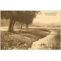 carte postale ancienne 01 Belley environs. Lac de Saint-Champs