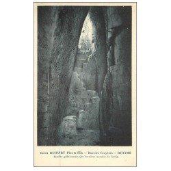 carte postale ancienne 51 REIMS. Champagne Caves Ruinart rue des Crayères. Escalier