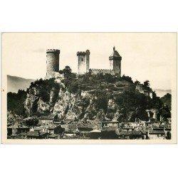 carte postale ancienne 09 FOIX. Château-Fort Barbacane. Carte Photo émaillographie