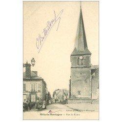 carte postale ancienne 51 RILLY-LA-MONTAGNE. L'Eglise rue de Reims 1904