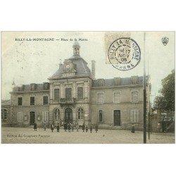 carte postale ancienne 51 RILLY-LA-MONTAGNE. Place de la Mairie 1905