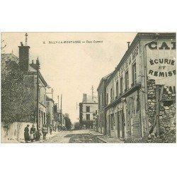 carte postale ancienne 51 RILLY-LA-MONTAGNE. Rue Carnot Hôtel Café de la Gare