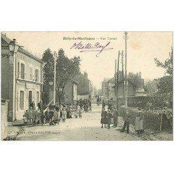 carte postale ancienne 51 RILLY-LA-MONTAGNE. Rue Carnot Restaurant Au Rendez-vous des Voyageurs 1904