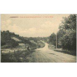 carte postale ancienne 51 SAINTE-MENEHOULD. Côte de l'Etang Route à Florent 1914