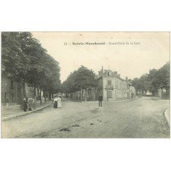 carte postale ancienne 51 SAINTE-MENEHOULD. Forgerons Rond-point de la Gare 1917